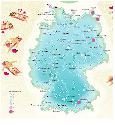 Read more about the article Deutschlandkarte: Hier kann man in Deutschland FKK Baden gehen!