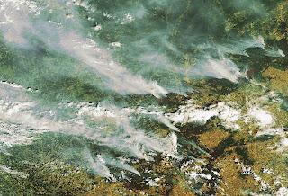 Read more about the article ESA zeigt riesige Flächenbrände im Osten von Moskau