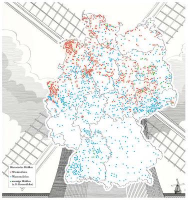 Read more about the article Deutschlandkarte zeigt alte Wind- und Wassermühlen in Deutschland
