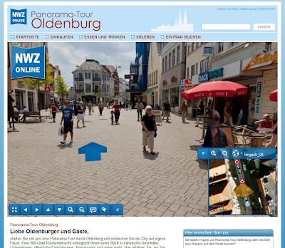 Read more about the article NWZ Online zeigt die Innenstadt von Oldenburg in Streetview-Panoramafotos