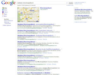 Read more about the article Verdrängt Google diverse Landkarten-,Stadtplananbieter und Routenplaner in der Suchmaschine automatisch mit Google Maps?