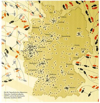Read more about the article Deutschlandkarte der Tanzschulen – In Städten wird getanzt, in Dörfern eher gestanden!