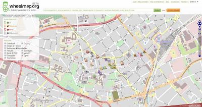 Read more about the article Ein Landkartendienst für Rollstuhlfahrer: Mit Wheelmap rollstuhlgerechte Einrichtungen, Parkplätze, Geschäfte und Bars finden und selber bewerten