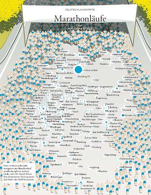 Read more about the article Deutschlandkarte der Zeit zeigt alle Marathonläufe in Deutschland