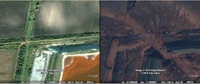 Read more about the article Google zeigt Kolontar vor und nach der Umweltkatastrophe