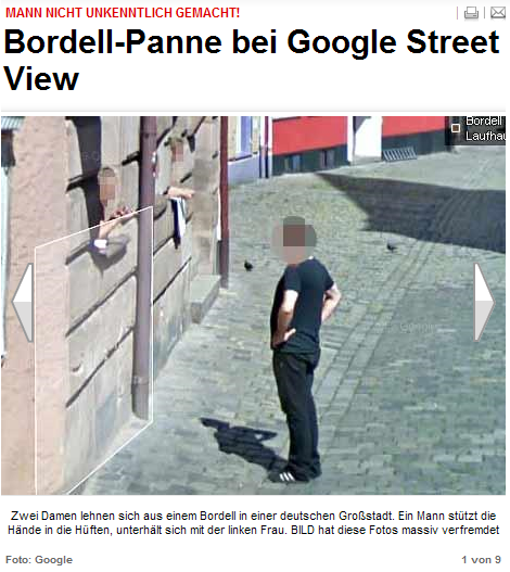 Read more about the article Lerneffekt? BILD lernt durch die verpixelung von Google Streetview das verpixeln!