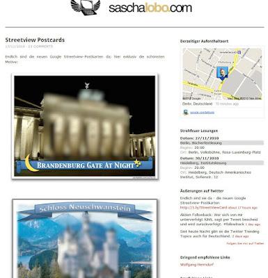 Read more about the article Hier die ersten Streetviewpostkarten deutscher Sehenswürdigkeiten