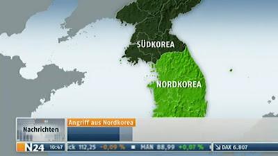Read more about the article Landkartenpanne auf N24 zur Bombardierung einer südkoreanischen Insel durch Nordkorea
