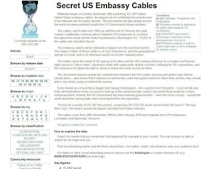 Read more about the article Hier geht es zu den geheimen Dokumenten der US-Botschaften auf WikiLeaks