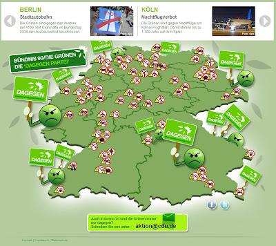 Read more about the article Die CDU Anti-Grünen Deutschlandkarte – CDU spielt auf beleidigte Partei