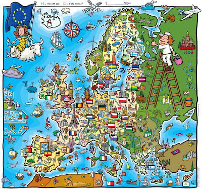 Read more about the article Für Kinder ein Traum. Die EU bietet eine wunderschöne Kindereuropakarte zum herunterladen und vervielfältigen an!