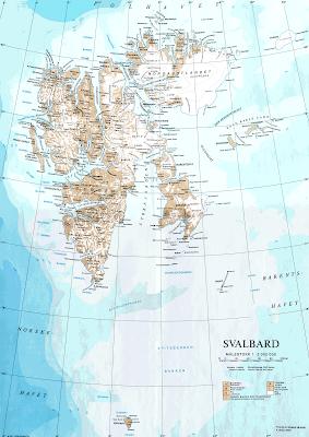 Read more about the article Amtliche Landkarte von Svalbard im Maßstab 1:2.000.000