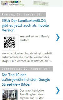 Read more about the article NEU: Der LandkartenBLOG gibt es jetzt auch als mobile Version