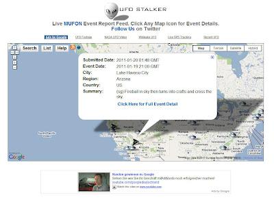 Read more about the article UFO Stalker meldet via Landkarte UFO Meldungen