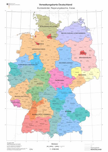Read more about the article Online: Amtliche Verwaltungskarte Deutschland