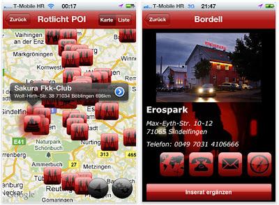 """Read more about the article iPhone & iPad App: Bordellführer """"Rotlicht POI"""" für Deutschland, Schweiz und Österreich gesichtet"""