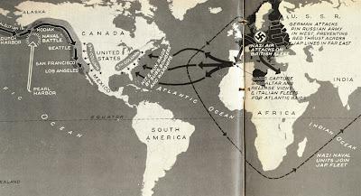 Read more about the article Invasion der USA 1942 – US-Pläne malen Szenario auf, wie die Nazis und Japaner die USA vermutlich angreifen würden