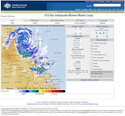 Read more about the article LIVE: Wetterradarbild vom Zyklone Yasi vom Australian Government der jetzt Australien erreicht!