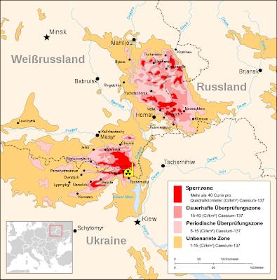 Read more about the article Übersichtskarte von Tschernobyl zeigt riesige versuchte Gebiete und Sperrzonen