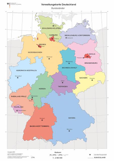 Read more about the article Online: Verwaltungskarte Deutschland der Bundesländer