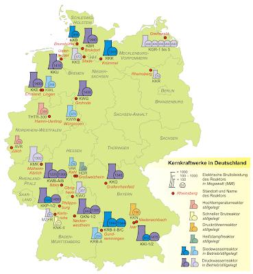 Read more about the article Übersichtskarter aller Atomkraftwerke und Forschungsreaktoren in Deutschland
