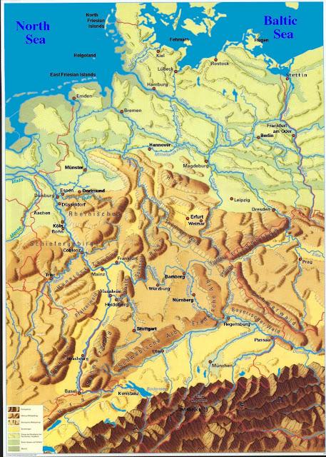 Read more about the article Online: Physische Deutschlandkarte
