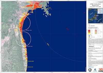 Read more about the article Überarbeitete Satellitenbilder der Uni Straßburg zeigen exakt wo der Tsunami an der Ostküste Japans gewesen ist
