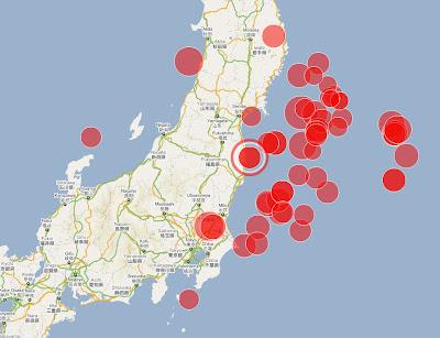 Read more about the article Spektakläre Übersichtskarte zu der Erdbebenserie in Japan