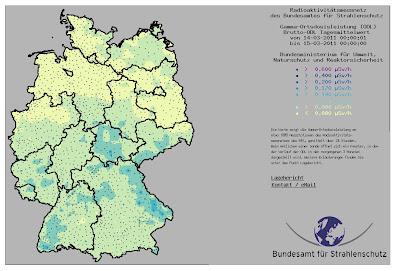 Read more about the article Amtliche Deutschlandkarte zeigt täglich aktuelle Werte zur Radioaktivität