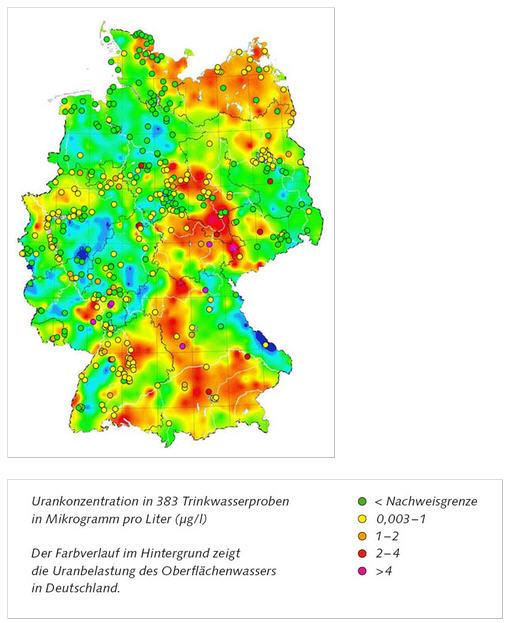 Read more about the article Deutschlandkarte zeigt Radioaktivität im Trinkwasser – Für Erwachsene überall unbedenklich aber für Babys nicht!