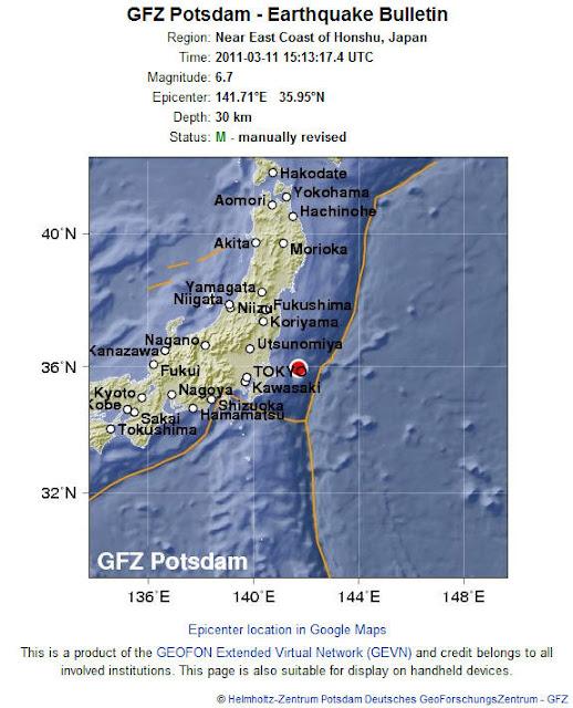 Read more about the article LIVE! Wieder schwere Erdbeben vor der Küste Japans gemessen!