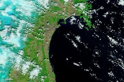 Read more about the article NASA Satellitenbilder von der Katastrophe in Sendai (Japan)