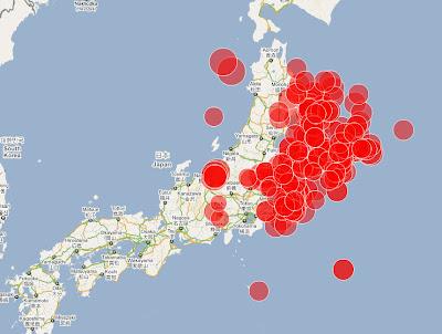 Read more about the article Neben der Atomkraftwerksexplosion gab es heute 7 starke Erdbeben über 6.0 – 199 Erdbeben über 5.0 seit Beginn vor 4 Tagen!