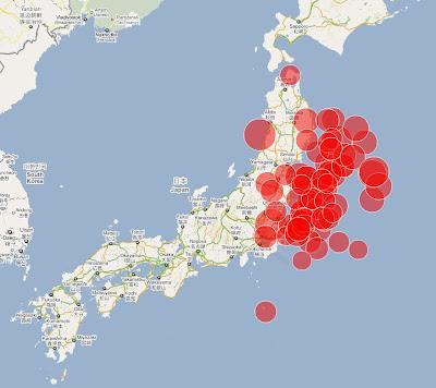 Read more about the article Einzigartige Übersichtskarte von Japan der letzten 24 Stunden