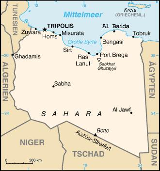 Read more about the article Landkarten von Libyen