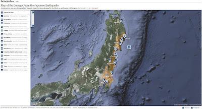 Read more about the article New York Times veröffentlicht Übersichtskarte mit zahlreichen erschreckende Fotos von der Ostküste Japans