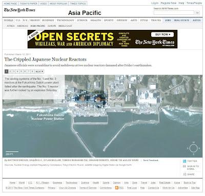 Read more about the article NYT zeigt detailliert den Aufbau der Reaktoren im Atomkraftwerk Fukushima 1