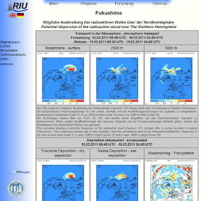 Read more about the article Uni Köln zeigt theoretische Ausbreitung der Radioaktivität über die Nordhalbkugel der Erde