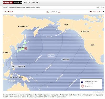 Read more about the article Landkarte zeigt ab wann die bis zu 85 Tsunamis im Pazifik ob Hawaii, Fidschi oder Salomonen sowie Nordamerika das Land erreichen wird!