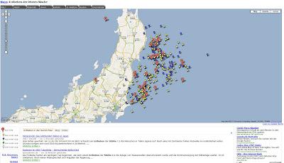 Read more about the article Tafoni zeigt eine aktuelle Google Map zu weltweiten Erdbeben