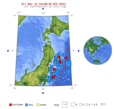 Read more about the article LIVE: USGS verzeichnet 87 Erdbeben ab Magnitude 5.0 für die Ostküste Japans