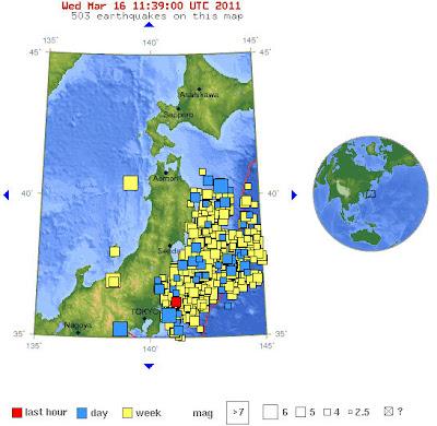 Read more about the article Die Lage in Japan ist kritisch aber ruhiger geworden! Erdbeben werden weniger und seit 14 Stunden ist keine neue Radioaktivität südlich Fukushima gemessen worden