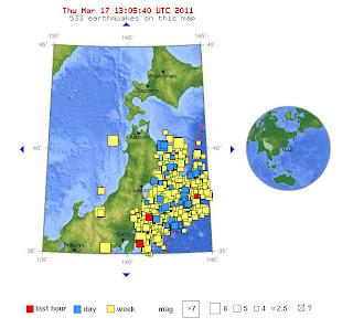 Read more about the article USGS meldet wieder mehrere Erdbeben vor der Küste Japans