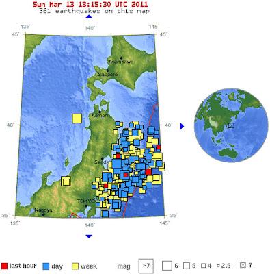 Read more about the article Japan wackelt ohne Pause! Heute schon über 30 Erdbeben über Magnitude 5.0 bzw. 3 Erdbeben über 6.0 vor der Ostküste Japans