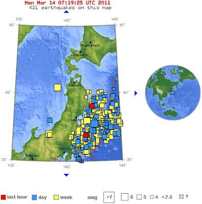 Read more about the article Stündlich neue Erdbeben vor Japan! Heute schon wieder 10 neue Erdbeben zwischen 5.0 und 6.1