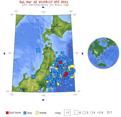 Read more about the article LIVE! Immer noch wackelt die Erde vor Japan! 233 Erdbeben in 4 Tage – Jede Stunde ereignen sich mehrere Beben über 5.0
