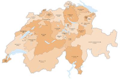 Read more about the article Verwaltungskarte der Schweiz