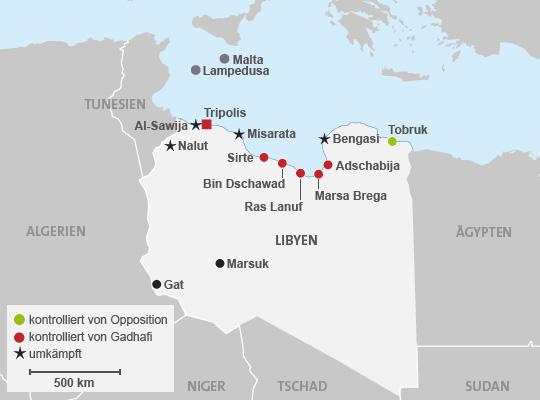 Read more about the article Aktuelle Informationen und Karten zu den Unruhen in Libyen