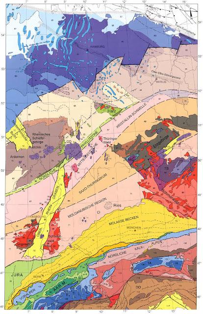 Read more about the article Online: Tektonische Landkarte von Deutschland