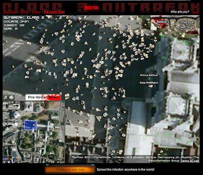 Read more about the article Satellitenbildanimation simuliert wie Zombies die Royale Hochzeit angreifen könnten